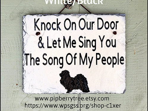Knock On My/Our Door and Let Me Sing You The Song Of My People