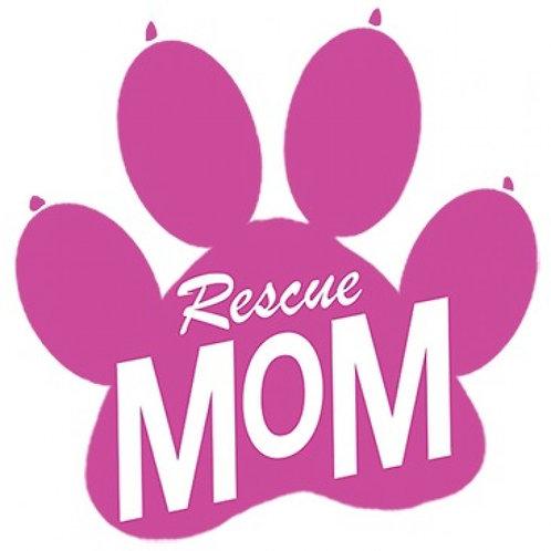 Rescue Mom Paw Print Tee Shirt