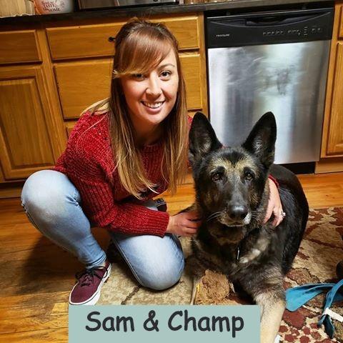 Sam and Champ (Sam's favorite :)