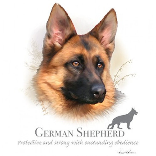 German Shepherd Protective and Strong with Outstanding Obedience Tee Shirt