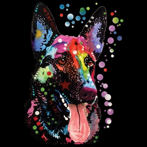 Neon German Shepherd Style A Tee Shirt