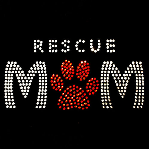 Rescue Mom with Paw Print Tee Shirt