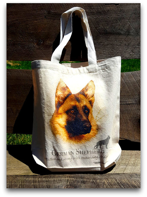 German Shepherd  Cotton Canvas Tote Bag
