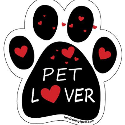 Pet Lover Paw Print Magnet