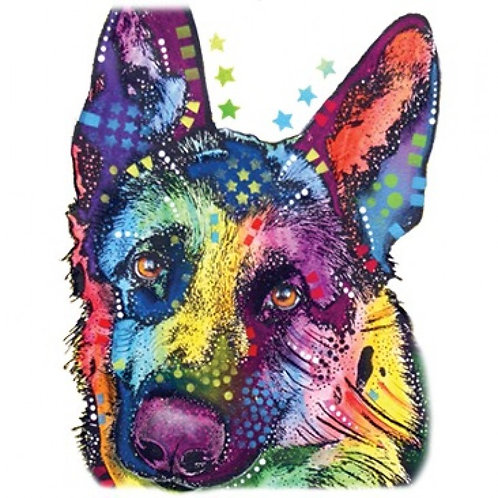 Neon German Shepherd Style B Tee Shirt