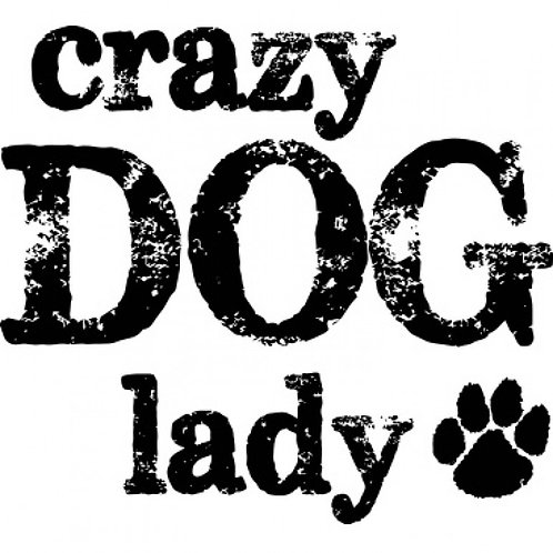 Crazy Dog Lady with Paw Print Tee Shirt