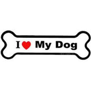I Love My Dog Bone Magnet