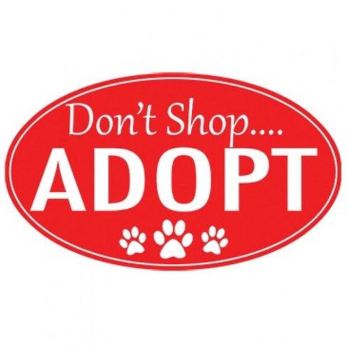Don't Shop, Adopt with Tiny Paw Prints Tee Shirt