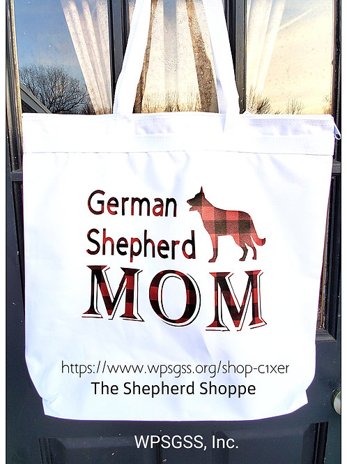 German Shepherd Mom Large Tote Bag