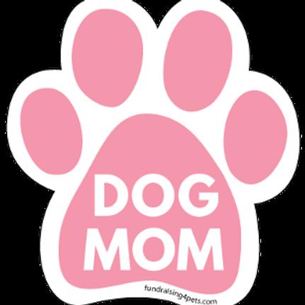 Dog Mom Paw Print Magnet - Pink