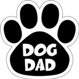 Dog Dad Black Paw Print Magnet