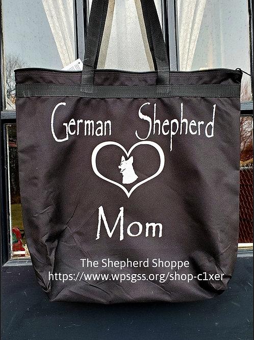 German Shepherd Mom Large Tote Bag