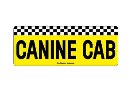 Canine Cab rectangle magnet