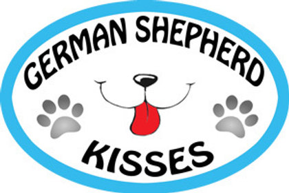 German Shepherd Kisses Oval Magnet