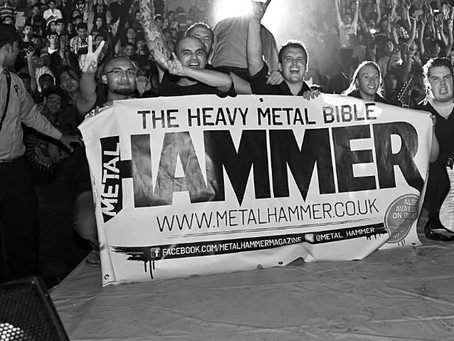 We are on the front of the Metal Hammer Magazine Website today!