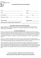 Tour Waiver Information