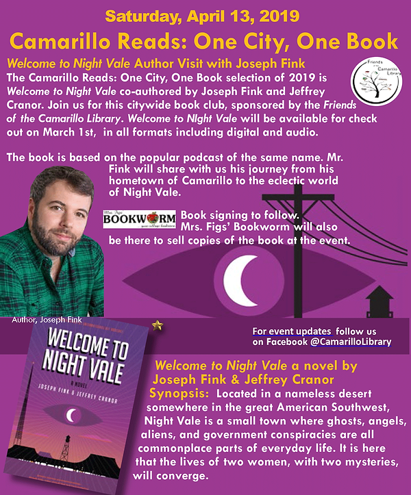 Welcome to Night Vale - Camarillo Reads 2019