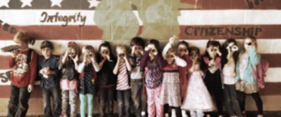 L4L Preschoolers with Binoculars