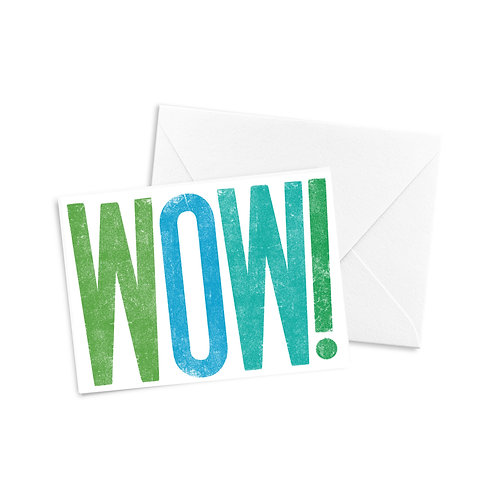 WOW! A2 Greeting Card (Cool Tone Colors)