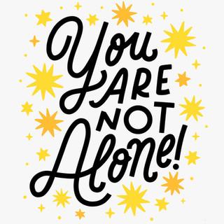 You Are Not Alone Print Design | Pete&Pen
