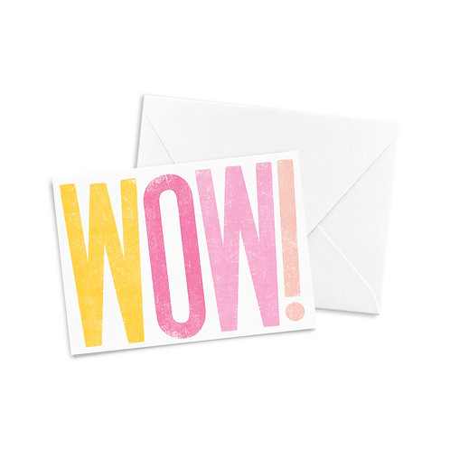 WOW! A2 Greeting Card (Warm Tone Colors)