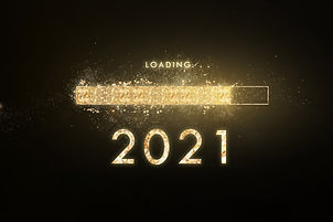 Gold progress bar Loading new year to 20