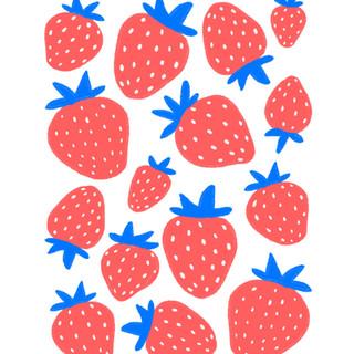Strawberry Jumble Print Design | Pete&Pen
