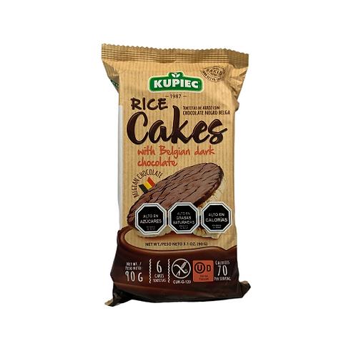 Galleta de Arroz con Chocolate Dark Kupiec
