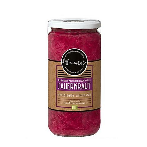 Sauerkraut Clásico Púrpura La Fermentista 640 g.