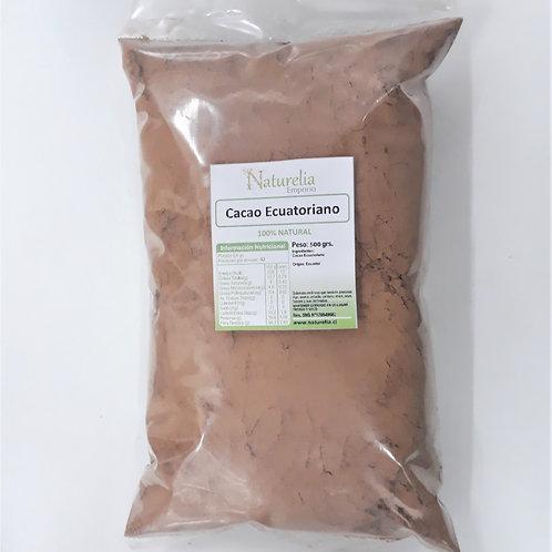 Cacao Ecuatoriano en polvo Naturelia 500g.