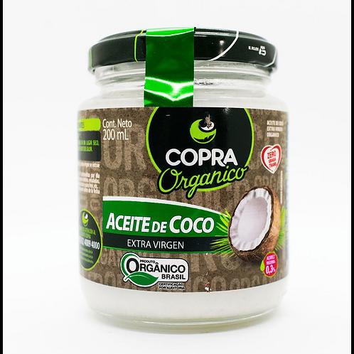 Aceite de coco orgánico Copra 200 ml.