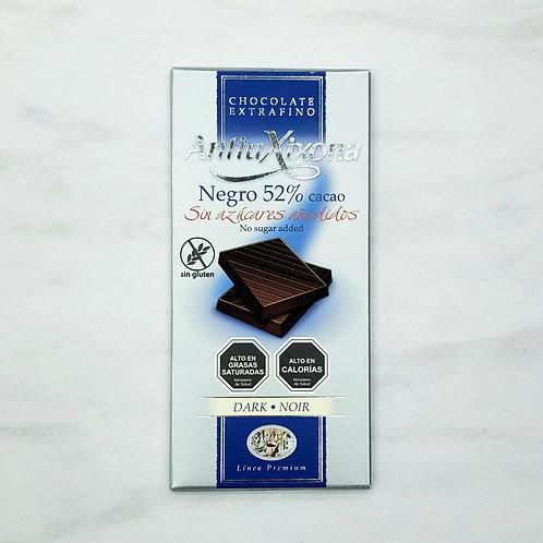 Chocolate 52% cacao Antiu Xixona