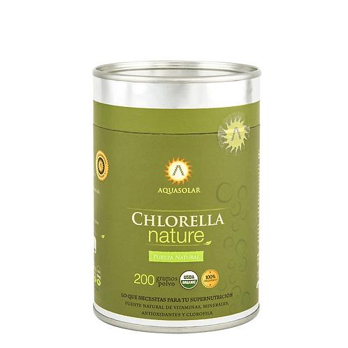 Chlorella orgánica en polvo Aquasolar 200g.