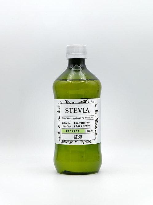 Stevia liquida recarga Del Alba 500ml.