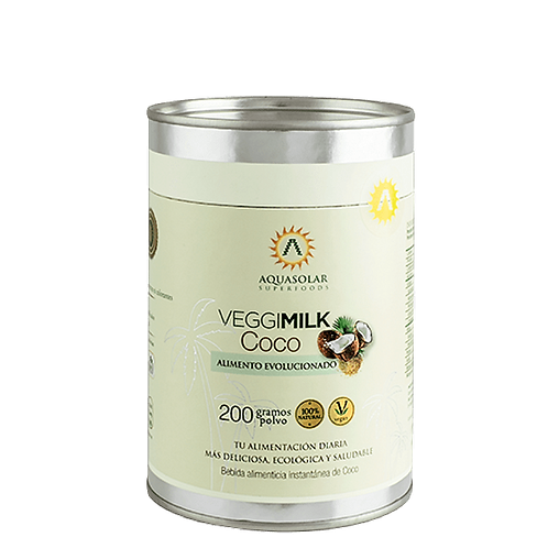 Leche vegetal Coco Aquasolar 200g.