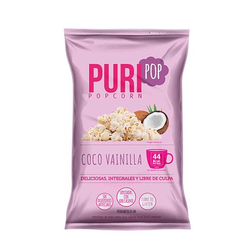 Palomitas de maíz coco vainilla Puri 25g.
