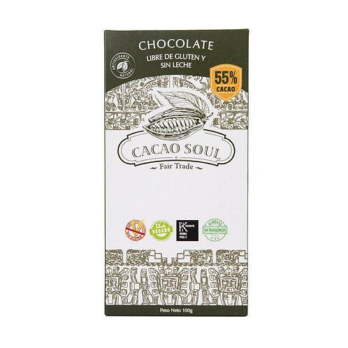 Chocolate orgánico 55% Cacao Soul
