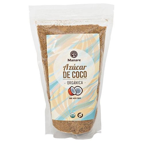 Azúcar de coco orgánica Manare 500gr
