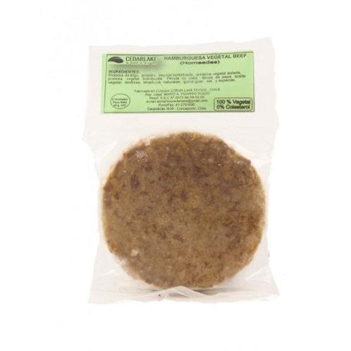 Hamburguesa Vegetal Beef (Proteína de soya oscura) 2 unid. de 55g.
