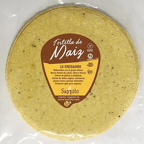 Tortillas de maíz grande 24 cm Saniito