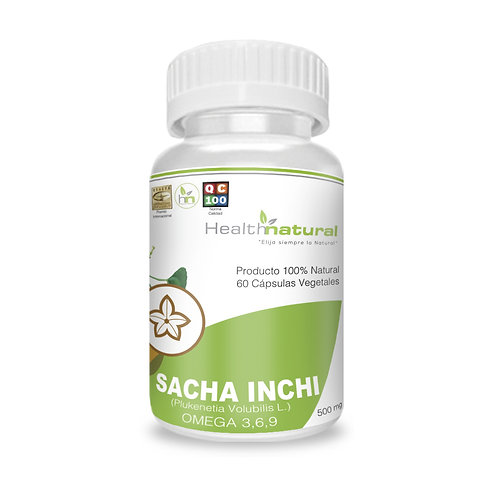 Sacha Inchi 500mg. Health Natural 60 cáps. veg.