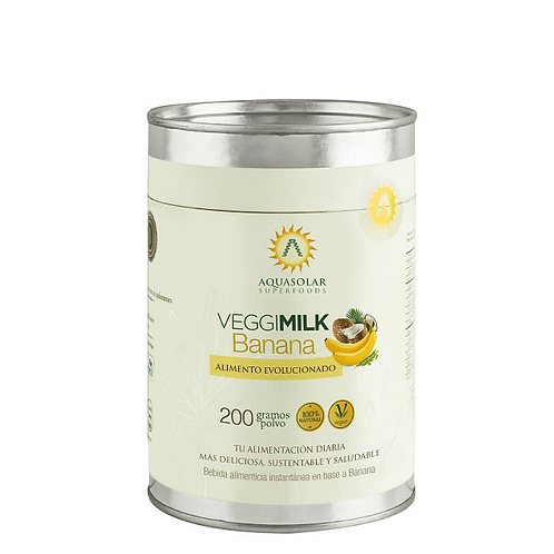 Leche vegetal Banana en polvo Aquasolar 200g.