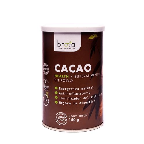 Cacao natural en polvo Brota 150g.