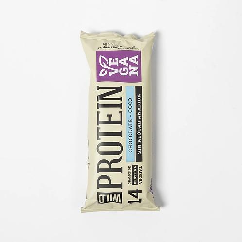 Barra de proteína vegana chocolate coco Wild Protein