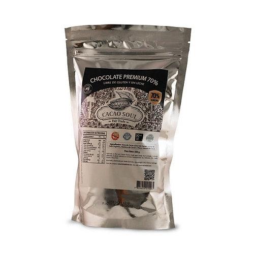 Cobertura en monedas 70% Cacao Soul 500g.