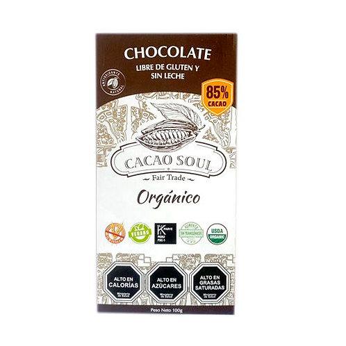 Chocolate orgánico 85% Cacao Soul