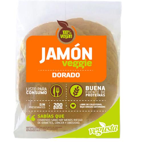 Jamón vegetal dorado Vegusta