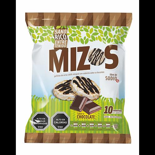 Galletas de arroz chocolate Mizos