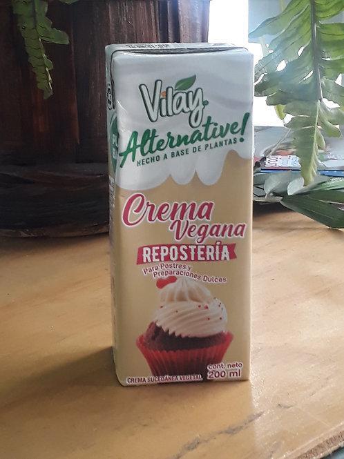 Crema vegana para repostería Vilay 200ml.