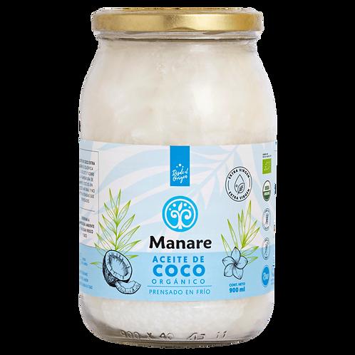 Aceite de coco orgánico Manare 900ml.